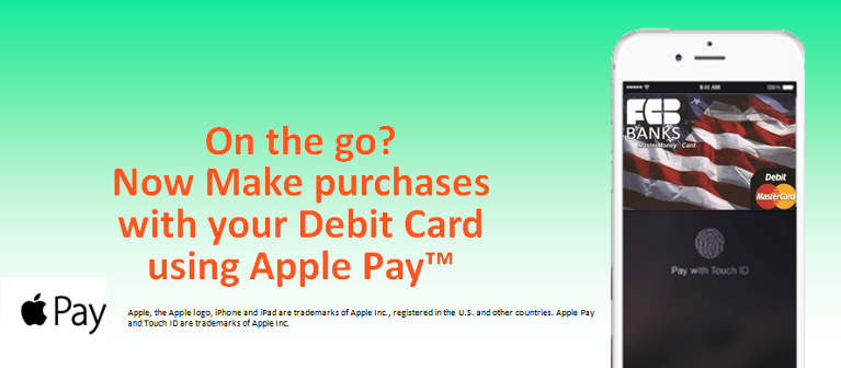 On the go? Now Make Purchases with your Debit Card using Apple Pay