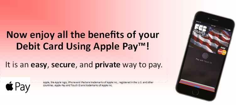 Now enjoy all the benefits of your Debit Card Using Apple Pay